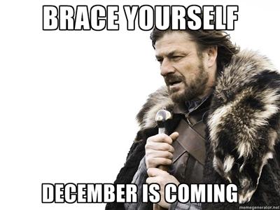 Brace yourself: ya llega Diciembre