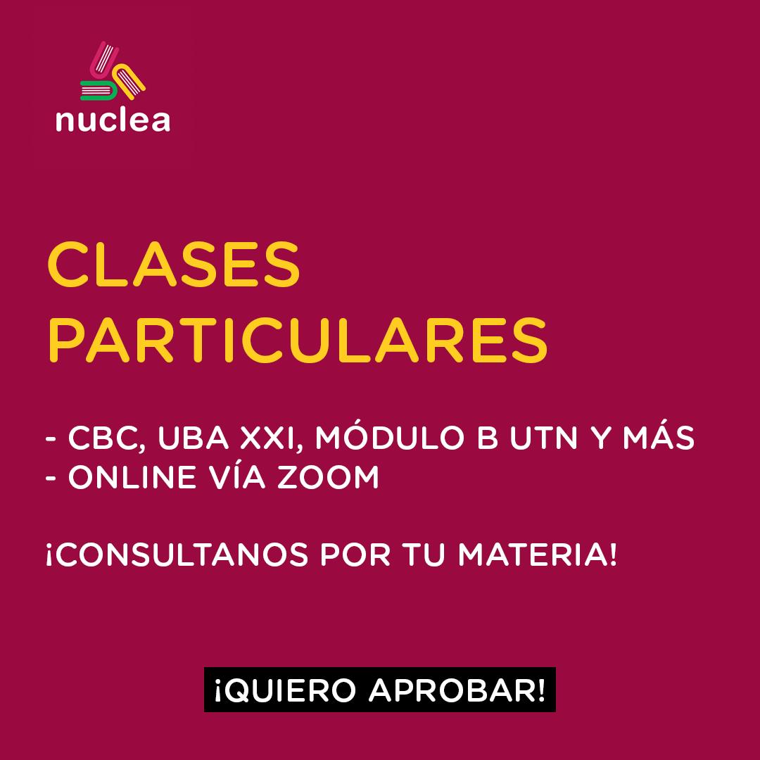 Clases particulares - CBC, UBA XXI, Módulo B UTN y más!